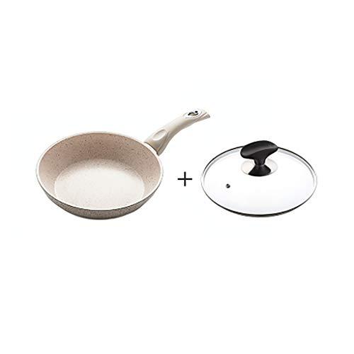 Greenlife koekenpannen zonder anti-aanbaklaag pan van aluminium materiaal legering en keramische coating 20×20×5CM  Oro rosa + oro rosa