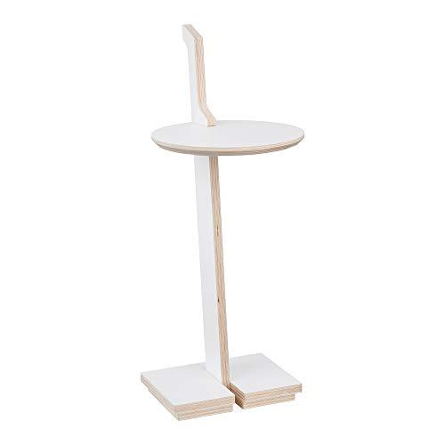 Tojo Lesestelle Beistelltisch mit Griff, weiß LxBxH 27x32x69.3cm Höhe der Tischplatte: 51.7cm