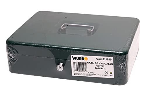 Wurko Caja Caudales nº4 con Bandeja, Verde, 30 x 24 x 9 cm