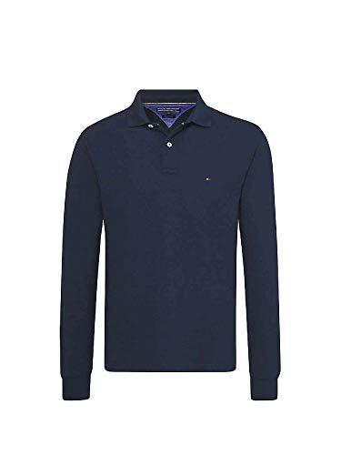 Tommy Hilfiger Herren Tommy Regular Polo LS Poloshirt, Blau (Sky Captain 403), Medium