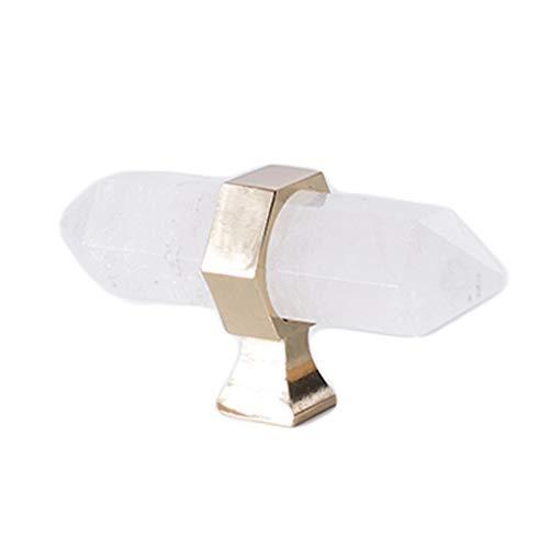 Manija de puerta de cristal, luz nórdica, mueble natural de lujo, caja de zapatos, mesita de noche, cajón, manija de la puerta (color: blanco, tamaño: 1)