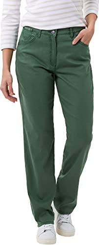 Raphaela by Brax Damen Corry Fame | Comfort Plus Jeans Hose, Grün (Dark Olive 34) , W34/L32(Herstellergröße: 44K)