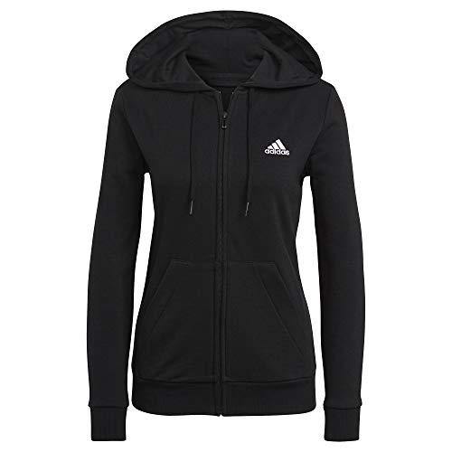 adidas GL0799 W SL FT FZ HD Sweat Womens Black/White XL