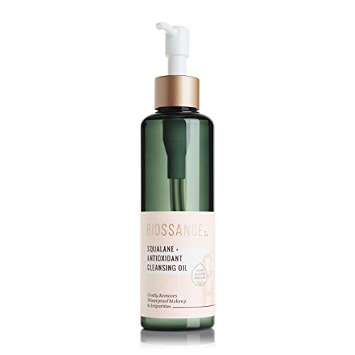 Biossance Squalane + Antioxidant Cleansing Oil. Lightweight Facial Oil Cleans Deep into Pores, Removes Makeup and Hydrates Skin. For all Skin Types (6.7 ounces)
