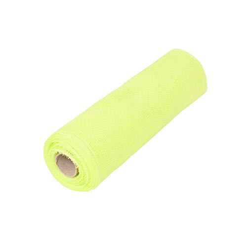 ITIsparkle 10 Inch x 10Yds Deco Poly Mesh Ribbon - Apple Green Non Metallic