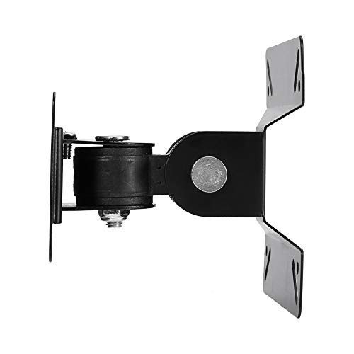 Ejoyous Soporte para Monitor LCD, Soporte inclinable para TV LCD-180 a +180 Grados Soporte de Pared Giratorio Hoja laminada en frío de Seguridad para 14-24 Pulgadas