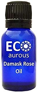Damask Rose oil 100% Natural, Organic, Vegan & Cruelty free Damask Rose Essential Oil By Eco Aurous (30 ml (1.01 oz))