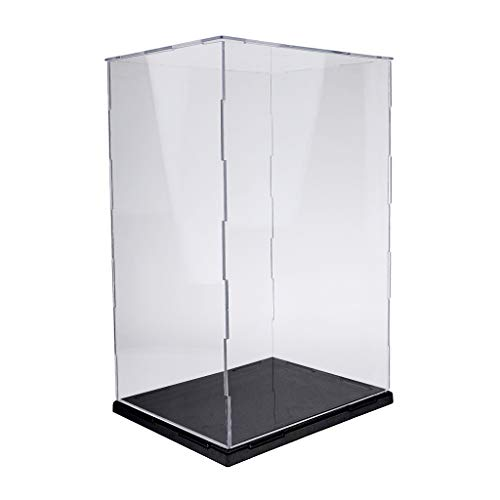 SM SunniMix Caja de Exhibición de Acrílico Transparente para Almacenar Collar,  Pendiente,  Pulsera 21.5x21x35cm