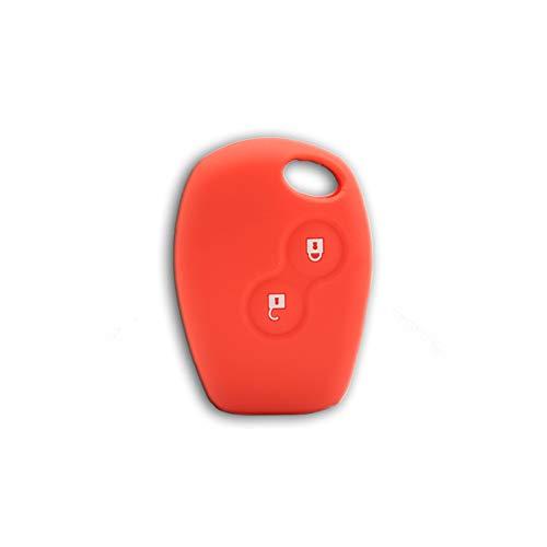 1neiSmartech Cover Guscio Colorato Case Materiale Silicone Morbido Per Scocca Chiave Telecomando 2 Tasti Auto Dacia Logan Sandero Duster Express Vari Colori (Rosso)