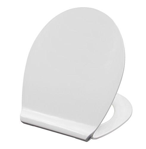 Grünblatt WC Sitz 515054, Modern Slim Design, Hochwertiges Material Duroplast, Soft-Close/Take off Scharniere, weiß