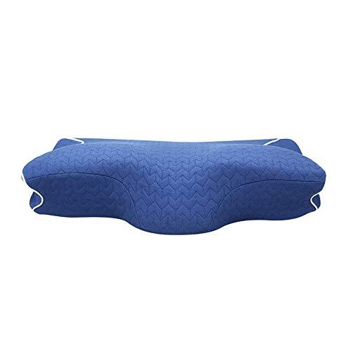 Modenny Almohada Almohada ortopédica de Espuma de Espuma para Dormir Anti-estrés Liberación del Dolor Cuello Suave Almohada (Color : Blue)