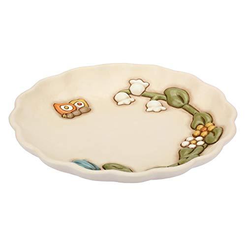 THUN - Piatto Centrotavola, Decorato con Fiori e Farfalle - Accessori e Decorazioni Casa - Linea Country - Formato Grande - Ceramica - Ø 30,4 cm