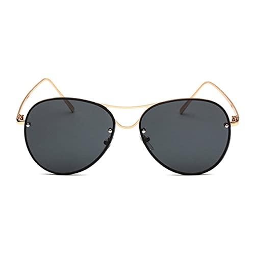 Sanzhileg Gafas de sol con montura metálica para mujer, moda europea americana, protección UV400 para viajes al aire libre, gafas para conducir, gafas de sol