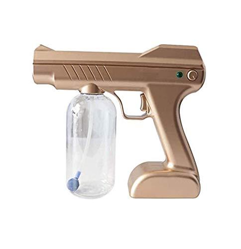 ZOUSHUAIDEDIAN Pistola de niebla desinfectante, pulverizador multifuncional, atomizador nano recargable de mano, rociador eléctrico Boquilla de boquilla ajustable para el hogar, oficina, escuela o jar