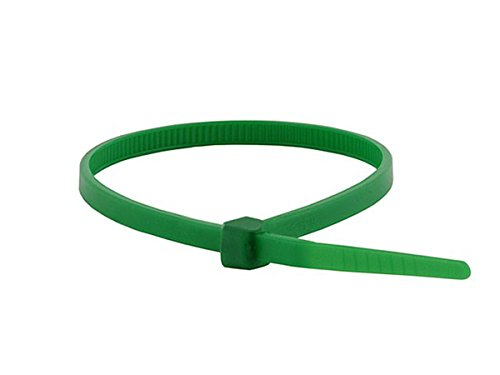 Monoprice Cable Tie 8 inch 40LBS, 100pcs/Pack - Green