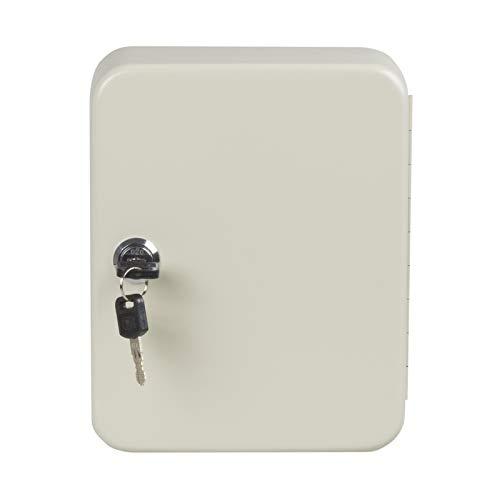 nxtbuy Schlüsselkasten inkl. Schlüsselanhänger abschließbarer Schlüsselschrank zum Aufhängen Schlüsselbox mit Zylinderschloss, Farbe:Beige, Größe:20 Haken