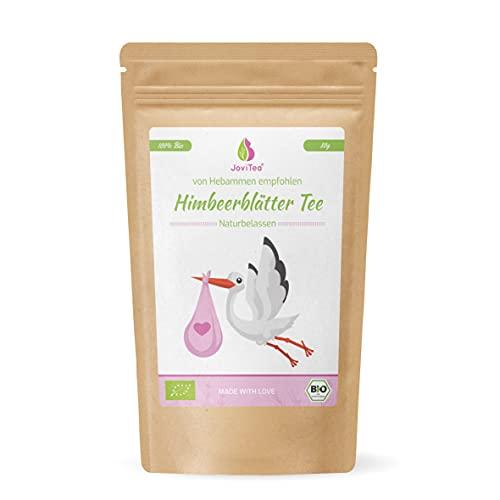 JoviTea® Himbeerblättertee BIO 80g - Kräutertee - auch während der Geburtsvorbereitung - Schwangerschaftstee - 100% natürlich und ohne Zusatz von Zucker. Aus Biologischem...