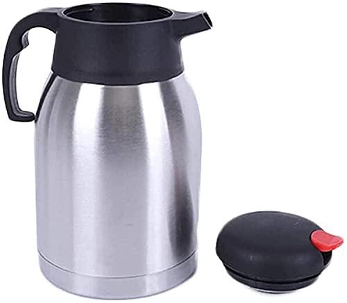 ZXYDD Cafetera al vacío, jarra térmica de acero inoxidable, termo aislada, jarra térmica, zumo/leche/té (color plata, tamaño: 1200 ml) (color plata, tamaño: 1500 ml)