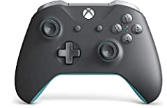 Experience the enhanced comfort and feel of the Xbox wireless controller Features a dark grey design with light grey and blue accents Plug in any compatible headset with the 3.5 millimeter stereo headset jack Stay on target with textured grip Include...