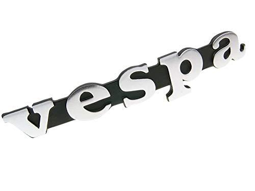 Opschrift embleem - Vespa - zilver voor beenschild voor Vespa 50, PX, Rally, Sprint, Special (4-135)