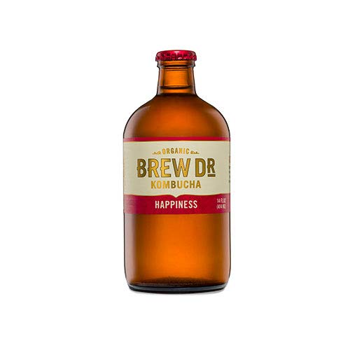 Brew Dr. Kombucha Happiness, 14 Ounce (Pack of 12)