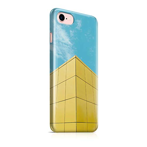 INNOGLEN Town Geometry, Yellow Cube Building and A Clear Sky 3D iPhone 7/8 Hülle a395g