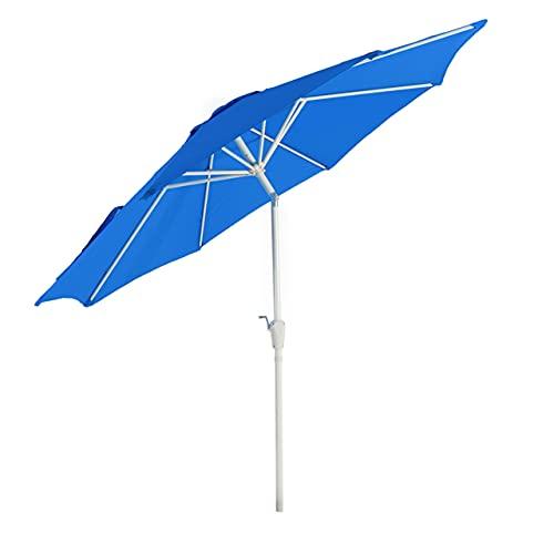 Mendler Sonnenschirm N19, Gartenschirm, Ø 3m neigbar Polyester/Alu 5kg - blau
