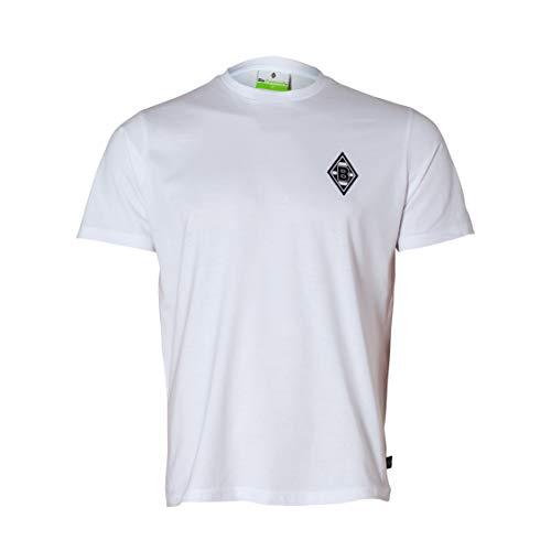 Borussia Mönchengladbach T-Shirt Raute weiß (M)