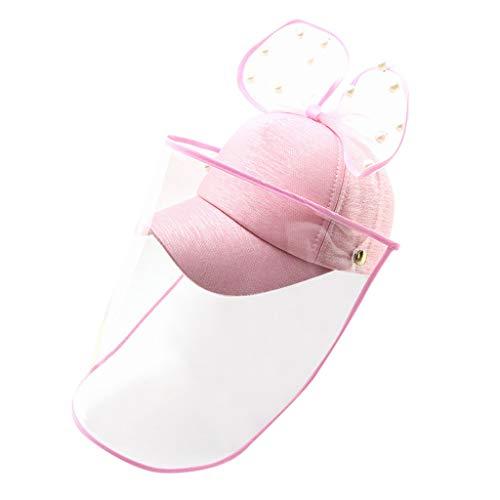 NINGNETI Sombrero Gorra Protector con Facial Visera Sombrero Protector Anti-saliva Cubierta A Prueba De Polvo Niños NiñAs Sombrero De Pescador Sombrero NS-0414A18