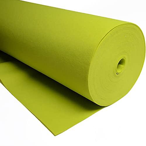 QDTD Hoja de Fieltro Tela de Fieltro 85cm de Ancho Telas Manualidades para Patchwork Costura DIY Artesanías de Bricolaje Manualidades 1m Vendido por Metro(Color:Verde Fluorescente)