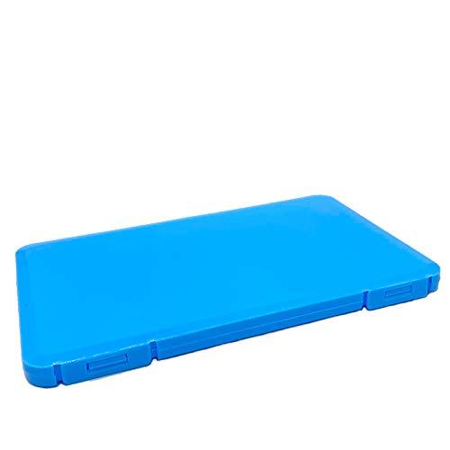 JALS - Caja de almacenaje para máscara, de plástico, color azul claro
