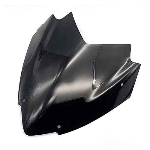 エンジン para YA-MAHA XMAX300 XMAX250 2017-2019 Motorcycle Sport Windshield Viser Deflector Carenado Protector Delantero (Color : Negro)