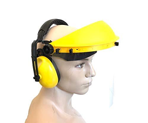 Ratioparts 006,698 Gehör- und Gesichtsschutz mit Klarsicht-Visier für Kopfumfang Kopfgröße 52-63 cm, Gelb