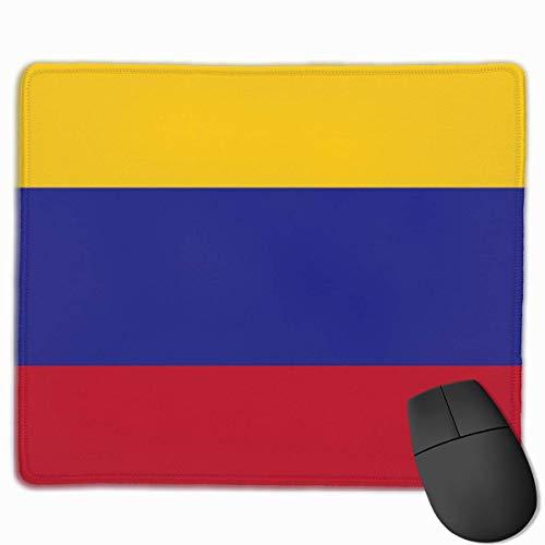 Colombia Vlag gepersonaliseerd ontwerp muismat Gaming Mouse Pad met gestikte randen Mousepads, anti-slip rubberen basis, 9.8x12 inch, 3mm dik - Beste cadeau idee