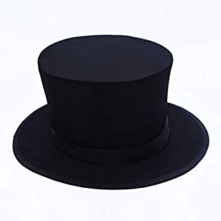 Blue-ther Black Magic Folding Spring Hat Stage Magic Tricks Appearing/Vanishing Objects Gimmick Magician Folding Top Hat Collapsing Magic Hat