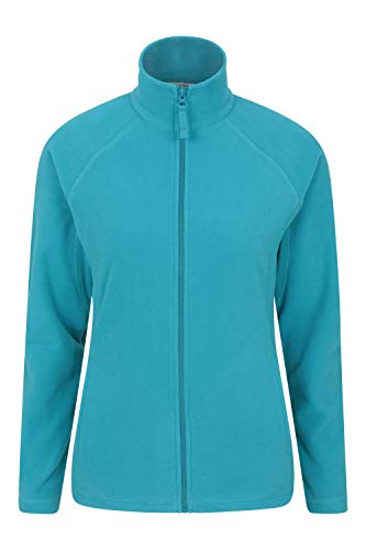 Mountain Warehouse Stylish Raso Womens Fleece – Lightweight Ladies Sweater, Quick Drying Pullover, Warm, Soft & Smooth - Ideal for Winter Travelling, Walking Teal 16