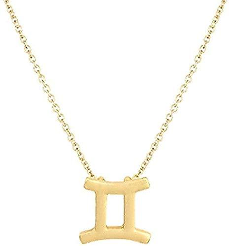 Collar Mujer Collar Elegante Estrella Signo del zodiaco 12 Constelación Collares pendientes Cadena de encanto Gargantilla Collares para mujer Joyería Dropship Regalo