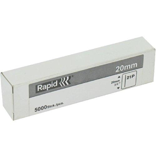 Rapid, 40302972, Mini pointes N°21P, 20mm de longueur, 5000 pièces, Fil galvanisé, Haute performance