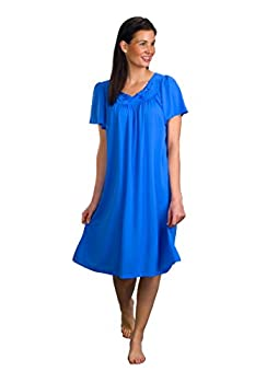 Shadowline Women s Petals 40  Short Flutter Sleeve Waltz Gown Sapphire Large