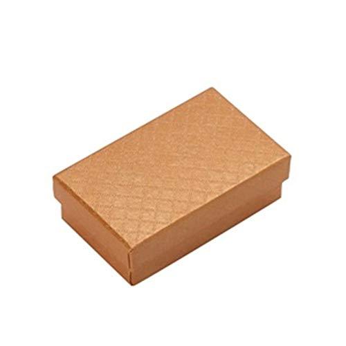 HXSZWJJ 32 cajas de joyería de 8 x 5 cm, caja de anillo para joyas, varios colores, cajas de regalo, exposiciones de pendientes, esponja negra de regalo (color oro)