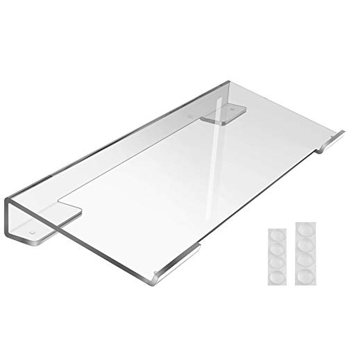MaxGear Computer Keyboard Stand Keyboard Riser Acrylic Keyboard Stand for Desk Clear Keyboard Holder for Desk with Adjustable Height for Easy Ergonomic Typing at Office, Home, School