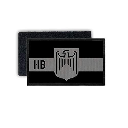 Copytec 30617 - Toppa della Bundesland Brema con Bandiera della Polizia, 7,5 x 4,5 cm