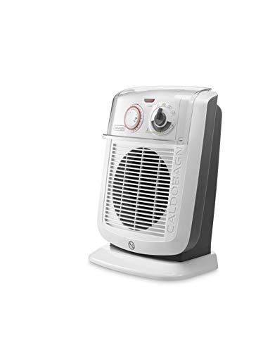 De'Longhi HBC 3052T Termoventilatore Caldobagno, 3 Potenze 800/1400/2200 W, 2200 W, 43 Decibel, Plastica, Bianco
