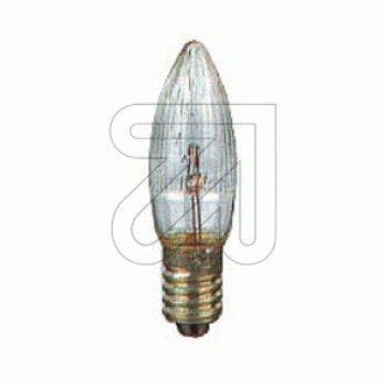 EGB® * Topkerze / Riffelkerze / Spitzschaftkerze * für Schwibbogen u. Lichterketten * 55 V 3W * innen + außen * 3 Stück