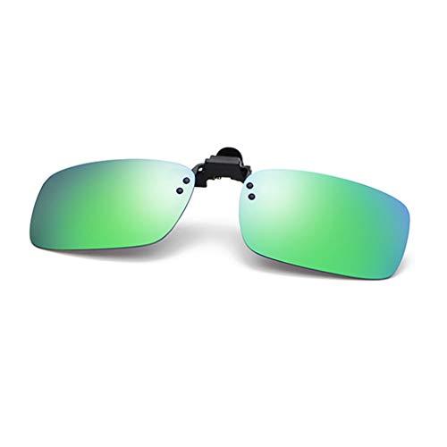 FRAUIT Unisex Abnehmbare Sonnenbrillen Damen Herren Nachtsichtlinse Sonnenbrillen Metall polarisierten Clip auf Brille Sonnenbrillen fährt Auto Nachtsicht Pilot Brille Brillenclip UV400