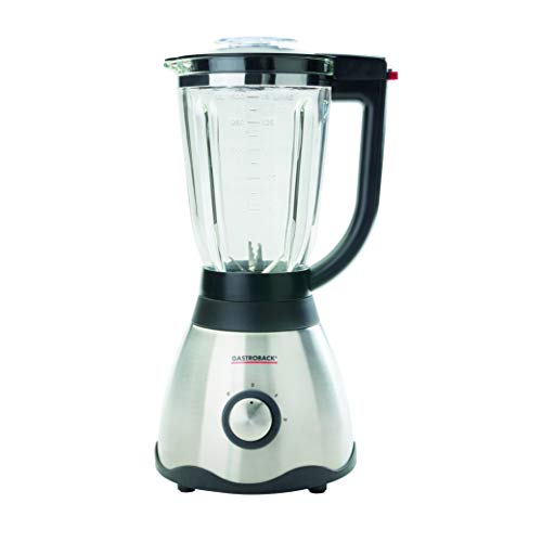 GASTROBACK 41003 Vital Plus, 850 Watt, hitze-und kältebeständiger 1.5 Liter Borosilikatglasbehälter Mixer, 1.5 liters, silber