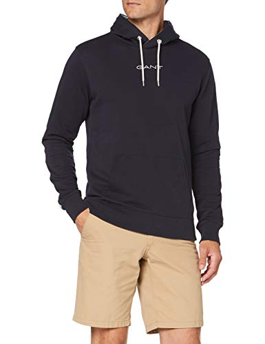 GANT Herren D1. 13 Stripes Sweat Hoodie Kapuzenpullover, Evening Blue, XXXL