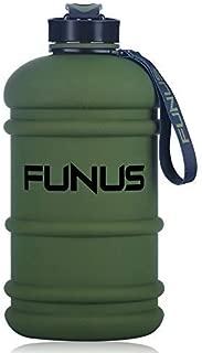 FUNUS Big Water Bottle 2.2L Odorless Water Jug BPA Free Hydro Jug Leak Proof Reusable Big Capacity for Men Women Fitness Gym Outdoor Climbing - 75oz