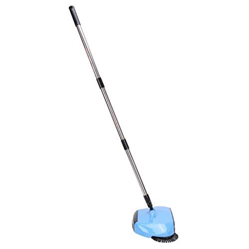 FLAMEER Verstellbarer Akkubesen Akkusauger Bodenkehrer Bodensauger ohne Energiequelle, Praktisch und Tragbar - Blau