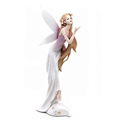 """Comfy Hour 13"""" Spirit Forest Fairy Wearing A Flower Collectible Figurine, Pink"""
